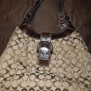 Authentic Brown and Tan Coach purse